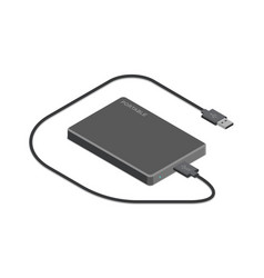 External hard drive isometric vector