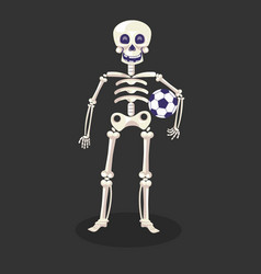 football player or skeleton with ball day dead vector image