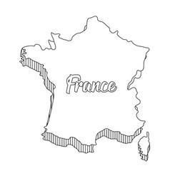 France map design vector