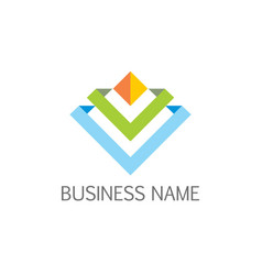 future 3d line business company logo vector image