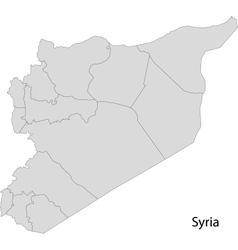 Grey Syria map vector