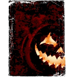 halloween grunge poster with space for you design vector image