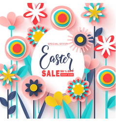 happy easter sale bannerbeautiful background with vector image