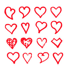 heart icon design hand draw vector image