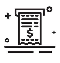 icon bill icon tax document icon invoice icon vector image
