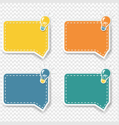 Idea sign with speech bubble isolated transparent vector