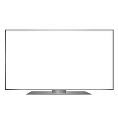 isolated oled grey flat smart wide tv and white vector image