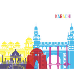 Karachi skyline pop vector
