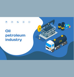 Landing page industrial website oil petroleum vector