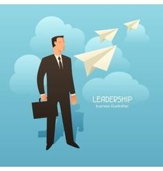 Leadership business conceptual vector