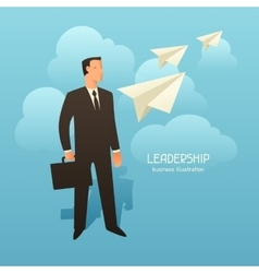 Leadership business conceptual with vector image