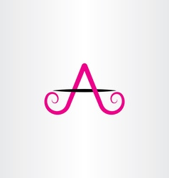 Magenta black a letter icon sign vector