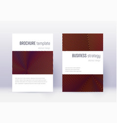 minimalistic cover design template set orange abs vector image