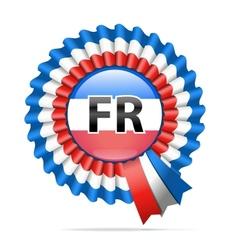 National flag badge FR vector