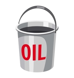 Oil in bucket icon cartoon style vector
