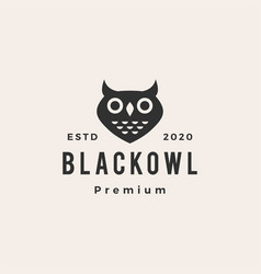 owl hipster vintage logo icon vector image