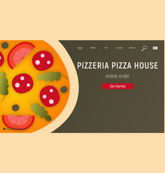 pizzeria landing page vector image