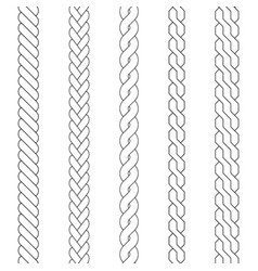 plait and braid brush vector image