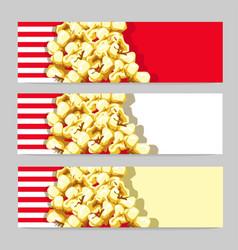 popcorn banner vector image