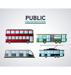 Public Transportation vehicles design vector