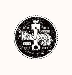racing emblem for t-shirt vector image