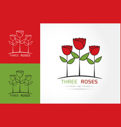 rose logo template vector image