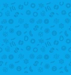 Seamless microbiology blue pattern vector