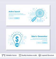search and idea symbols vector image