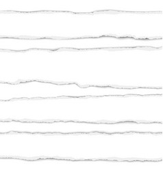Several torn white paper stripes with shadow vector