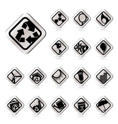 simple ecology icons - set for web applications vector image