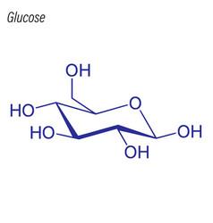 Skeletal formula glucose drug chemical molecule vector