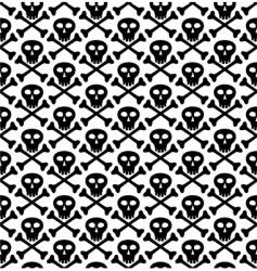 Skull black pattern vector