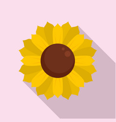Spring sunflower icon flat style vector