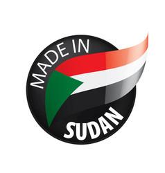 Sudan flag on a white vector