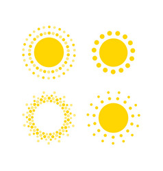 Sun dots icons summer rest sign travel agency or vector