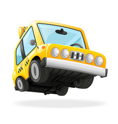 taxi car icon yellow cab transportation urban vector image