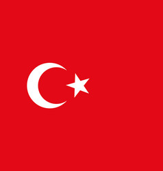 turkey flag icon of turkish crescent on red vector image
