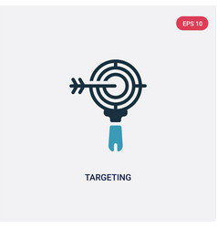 two color targeting icon from search engine vector image
