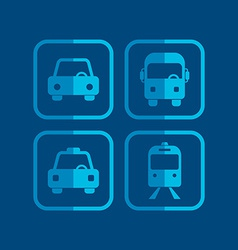 vehicle icon vector image vector image