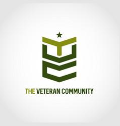 Veteran community logo symbol icon vector