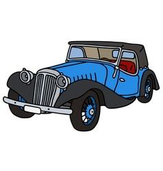 Vintage blue convertible vector