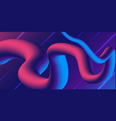 wave flow shape abstract background modern vector image