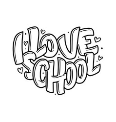 Welcome back to school lettering quote back to vector