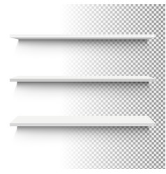 white shelf set vector image