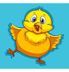 Yellow chick with happy face vector image