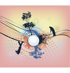 abstract colorful golf background vector image vector image