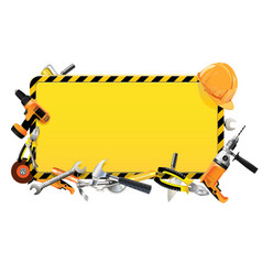 Construction Frame with Tools vector image vector image