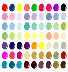 Easter eggs - The collection for designers vector image vector image