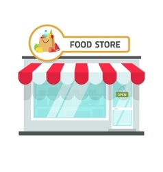 Food store building grocery vector image