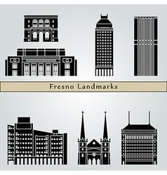 Fresno landmarks and monuments vector image vector image